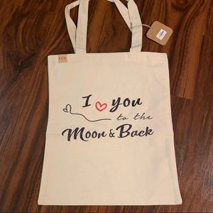 I Love You To The Moon & Back Eco Tote Bag NWT